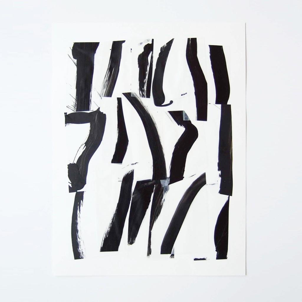 <i>Suite 12</i>, acrylique sur calque polyestet, 40x30cm, 2014