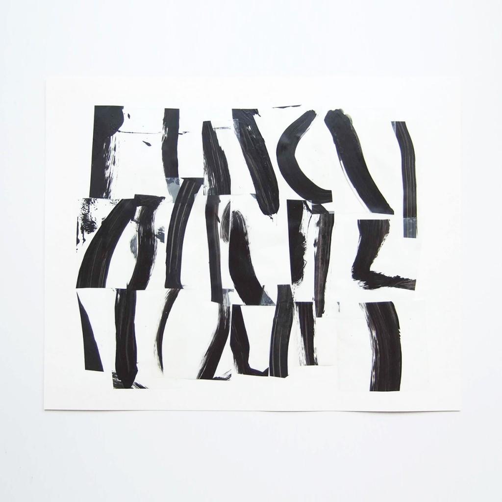 <i>Suite 13</i>, acrylique sur calque polyester, 30x40cm, 2014