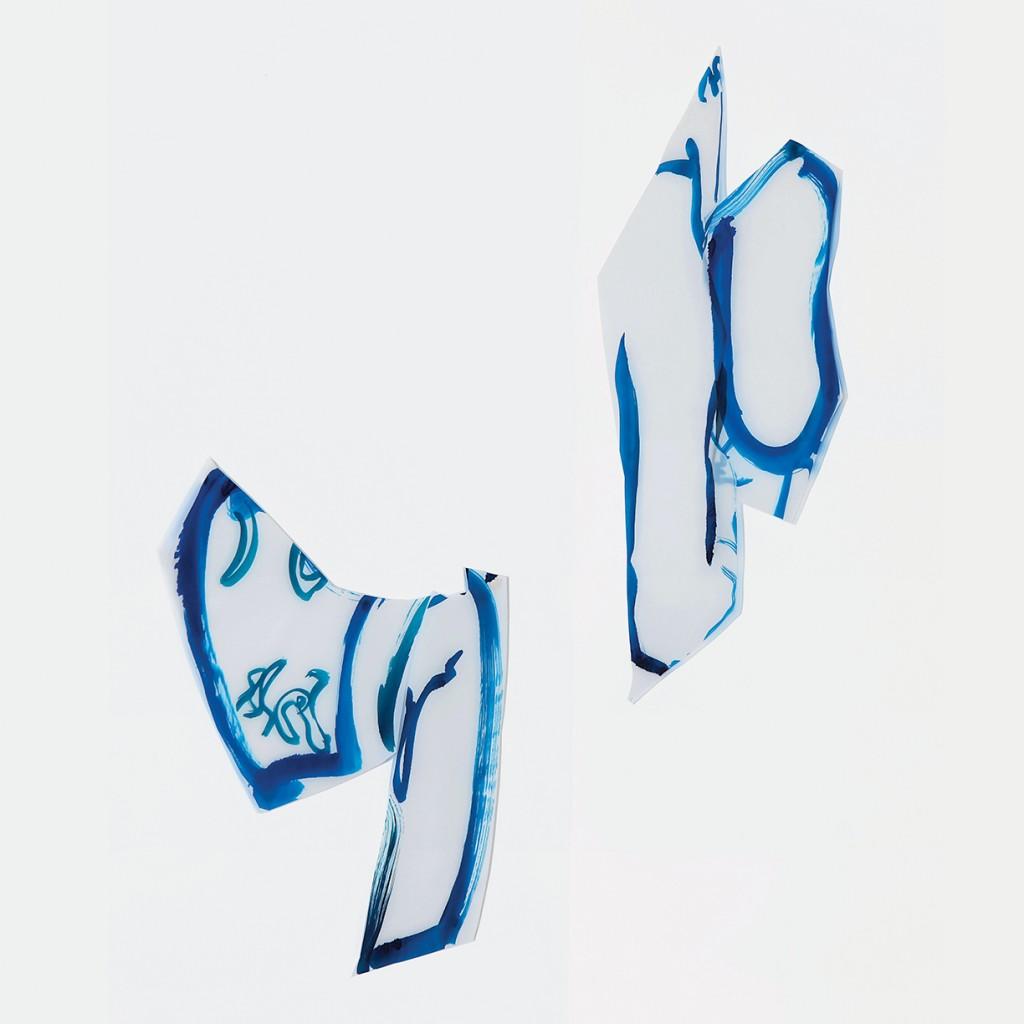 <i>Duo Malae</i>, encre sur calque, 80x76cm, 2010