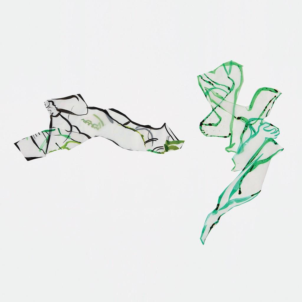 <i>Arche</i>, encre sur calque, 39x99cm / Solo, encre sur calque, 64x94cm, 2010