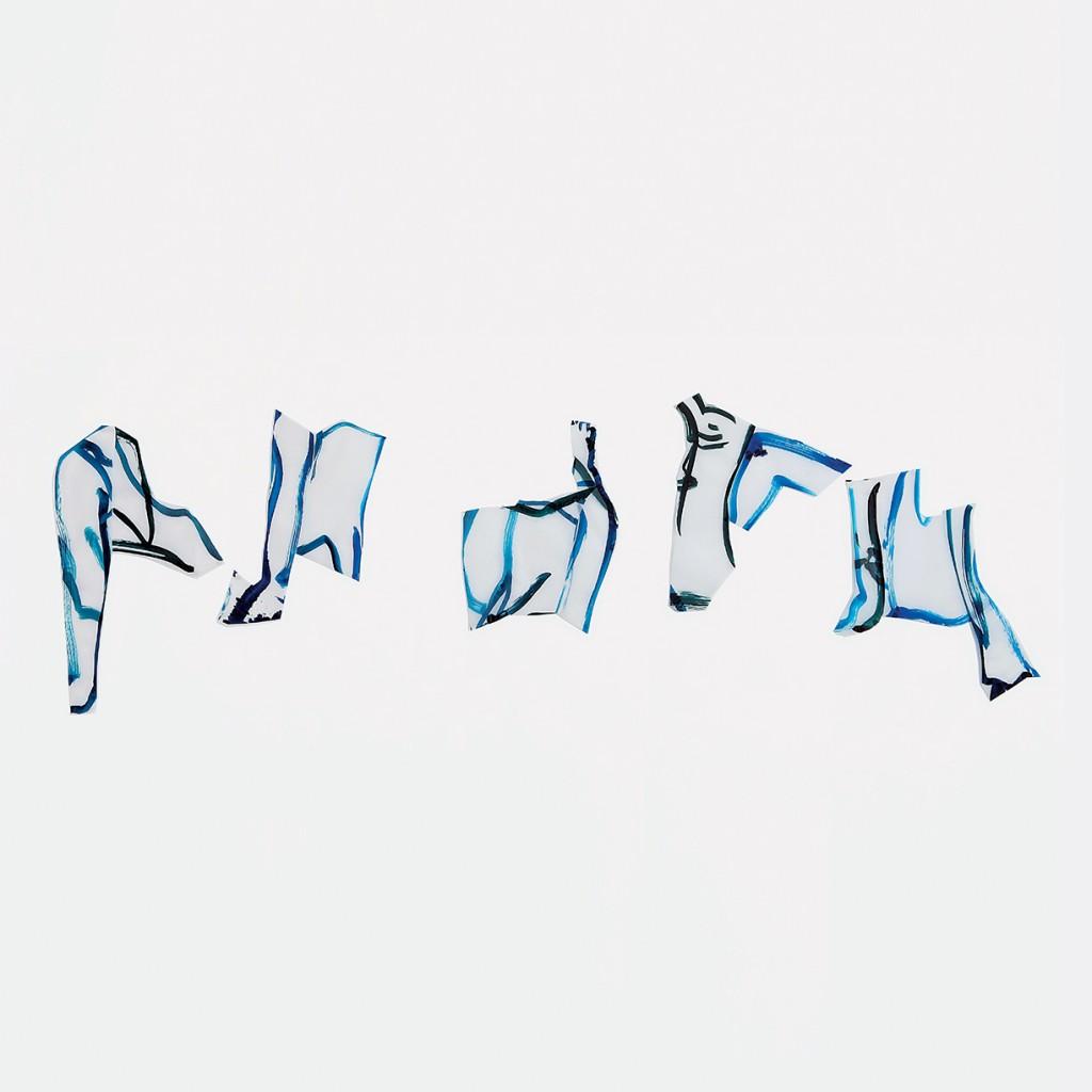 <i>Quintet K</i>, encre sur calque, 290x73cm, 2010