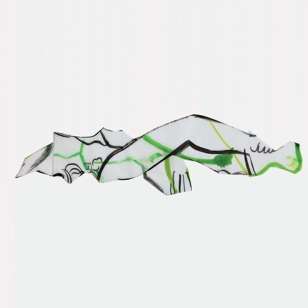 <i>Puke</i>, encre sur calque, 32x110cm, 2010