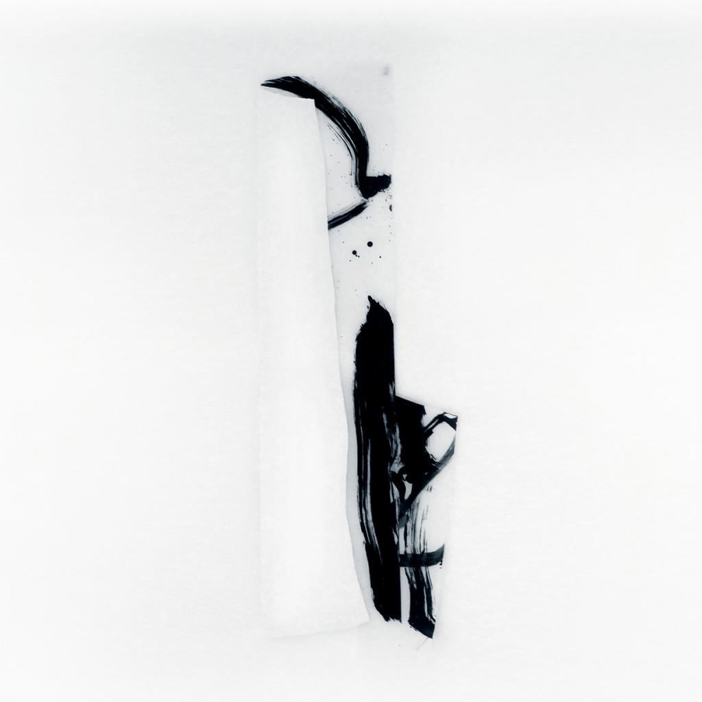 <i>Contrefort</i>, papier et encre sur calque, 126x42cm, 2011