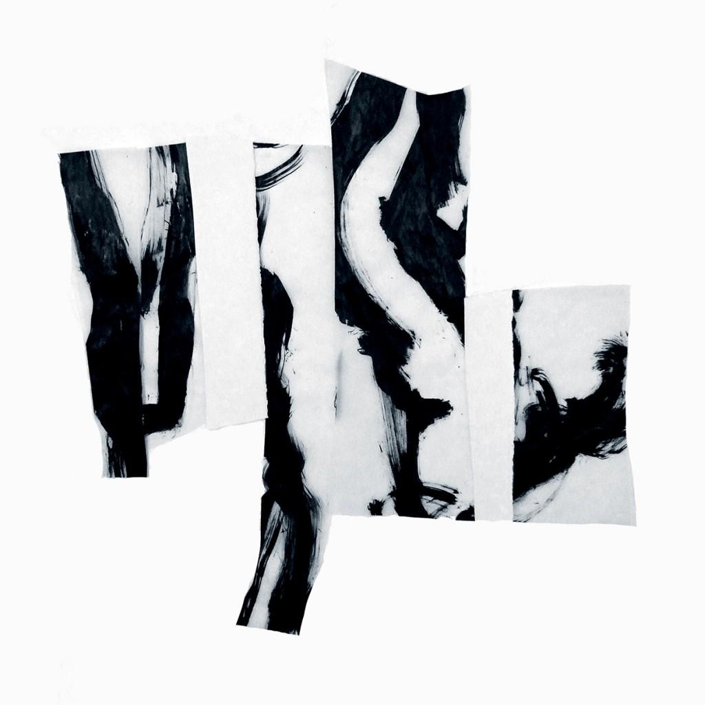 <i>Forêt</i>, papier et encre, sur calque, 80x79cm, 2011