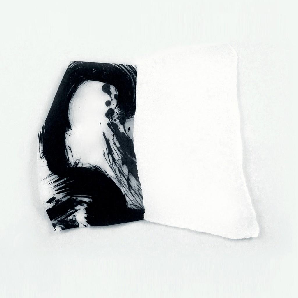<i>Intrados</i>, papier et encre sur calque, 32x30cm, 2011