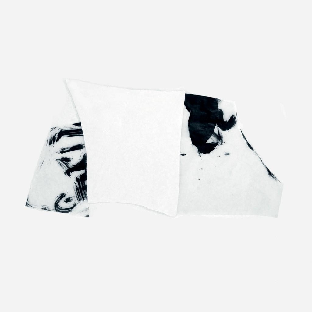 <i>Triptyque-1</i>, papier et encre sur calque, 33x63cm, 2011