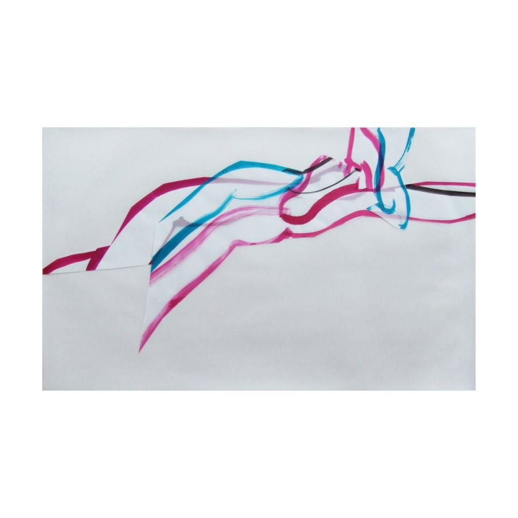 <i>Attente</i>, encre sur calque, 37x61cm, 2009