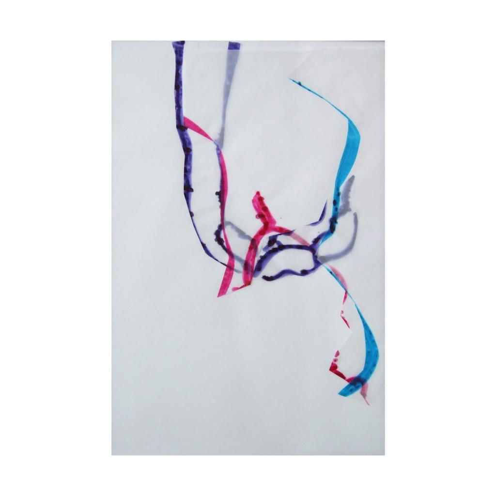 <i>Source</i>, encre sur calque, 58x38cm, 2008