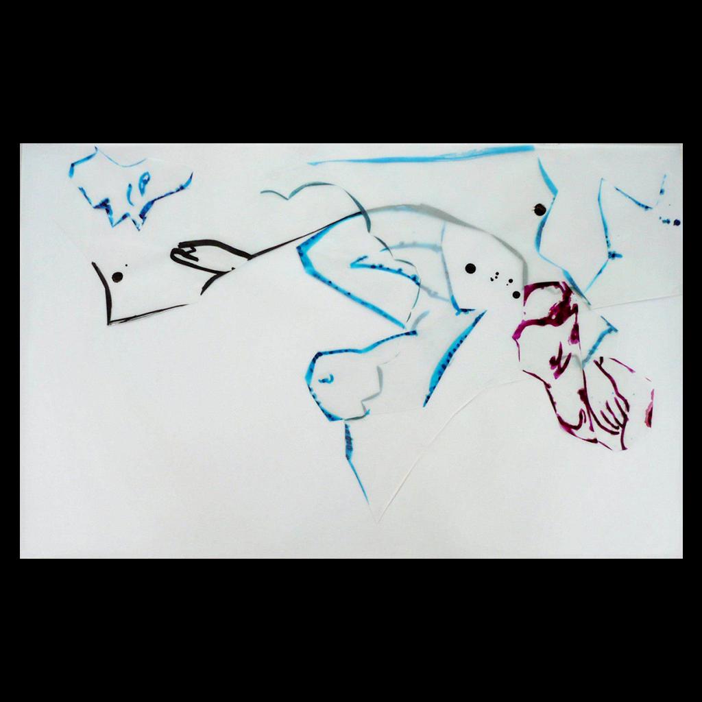 <i>Attirance</i>, encre sur calque, 42x75cm, 2008