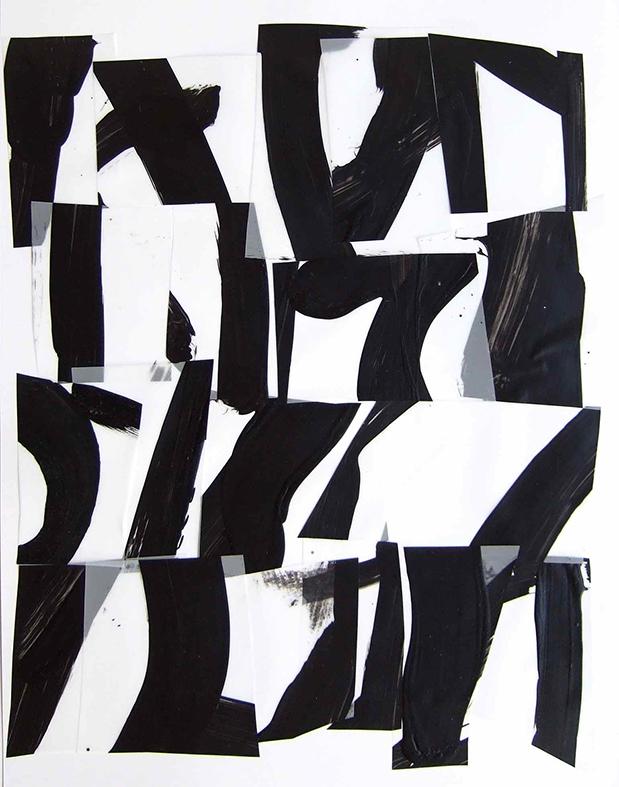 <i>Suite 19</i>, acrylique sur calque polyester, 40x30cm, 2014