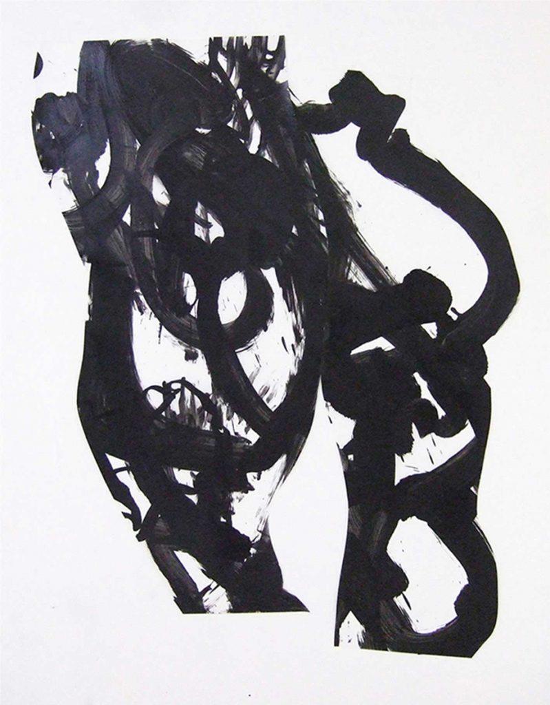 <i>Chorégraphe</i>, acrylique sur calque polyester, 150x96cm, 2013