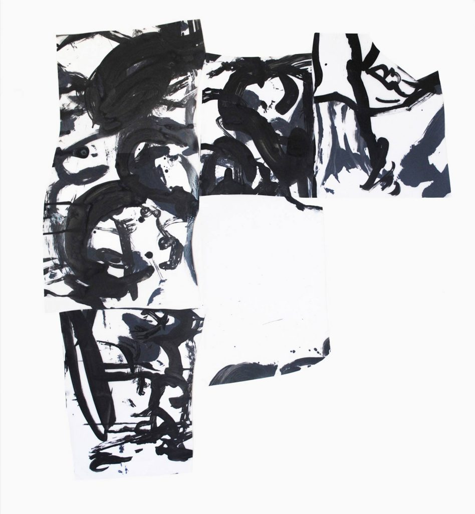 <i>Corner</i>, acrylique sur calque polyester, 106x96cm, 2013