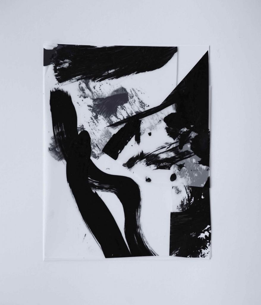 <i>Miniature 10</i>, acrylique sur calque poyester, bristol, 17x22cm, 2016