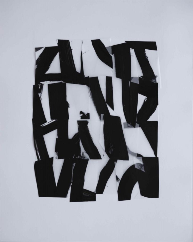<i>Suite 17</i>, acrylique sur calque polyester, 40x30cm, 2014