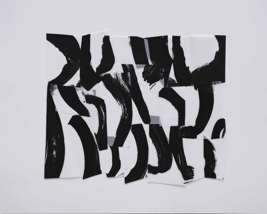 <i>Suite 9</i>, acrylique sur calque polyester, 30x40cm, 2014