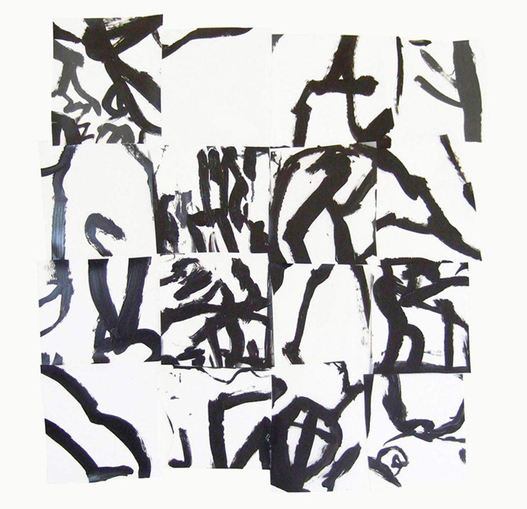 <i>Mosaïque 2</i>, acrylique sur calque polyester, 84x79cm, 2013