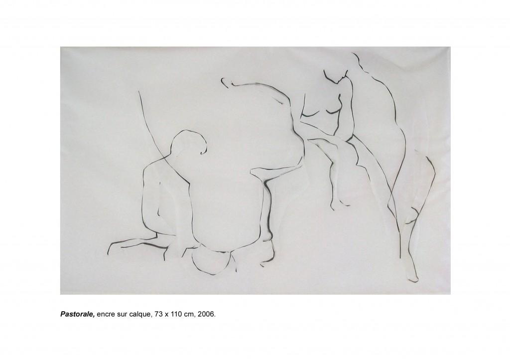 <i>Pastorale</i>, huile sur calque, 73x110cm, 2007