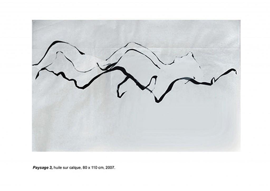 <i>Paysage 3</i>, huile sur calque, 80x110cm, 2007