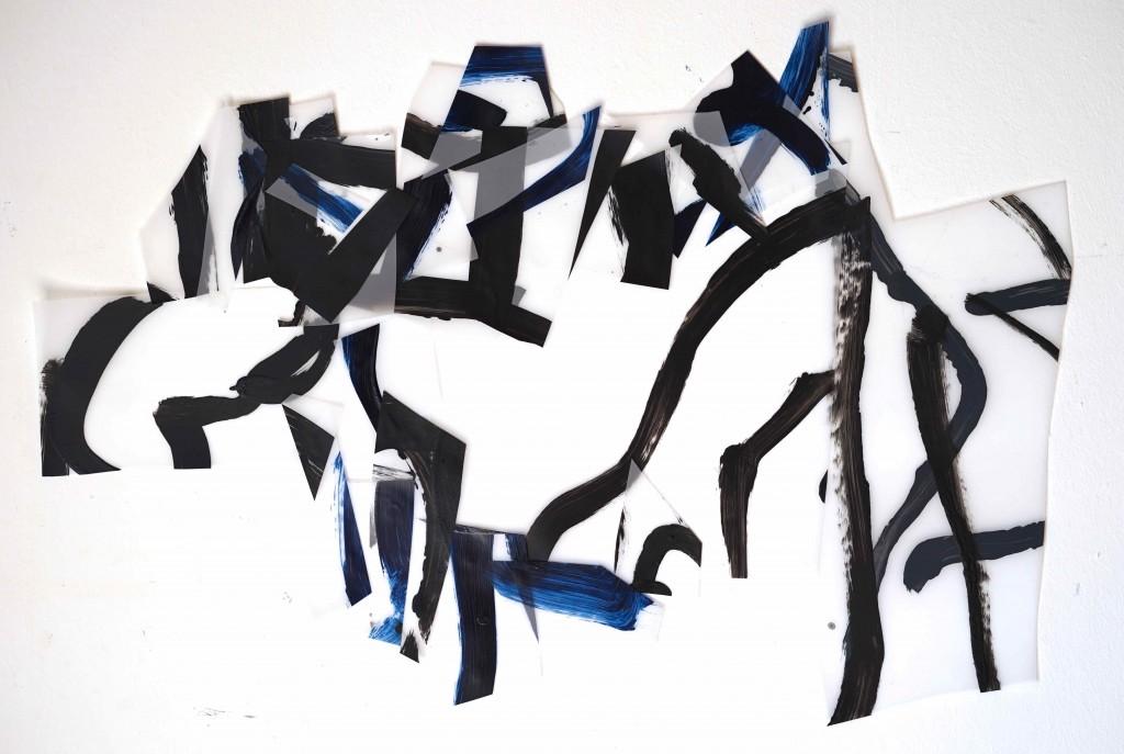 <i>Structure 3</i>, acrylique sur calque polyester, 48x71cm, 2016