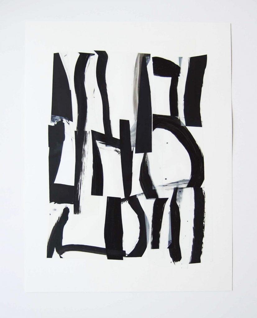 <i>Suite 15</i>, acrylique sur calque polyester,  40x30cm, 2014