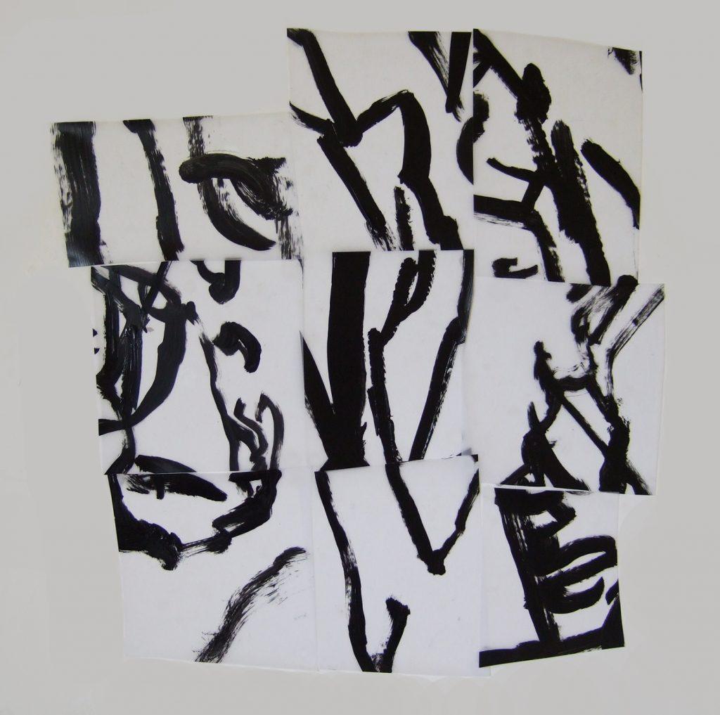 <i>Mosaïque 1</i>, acrylique sur calque polyester, 62x61cm, 2013