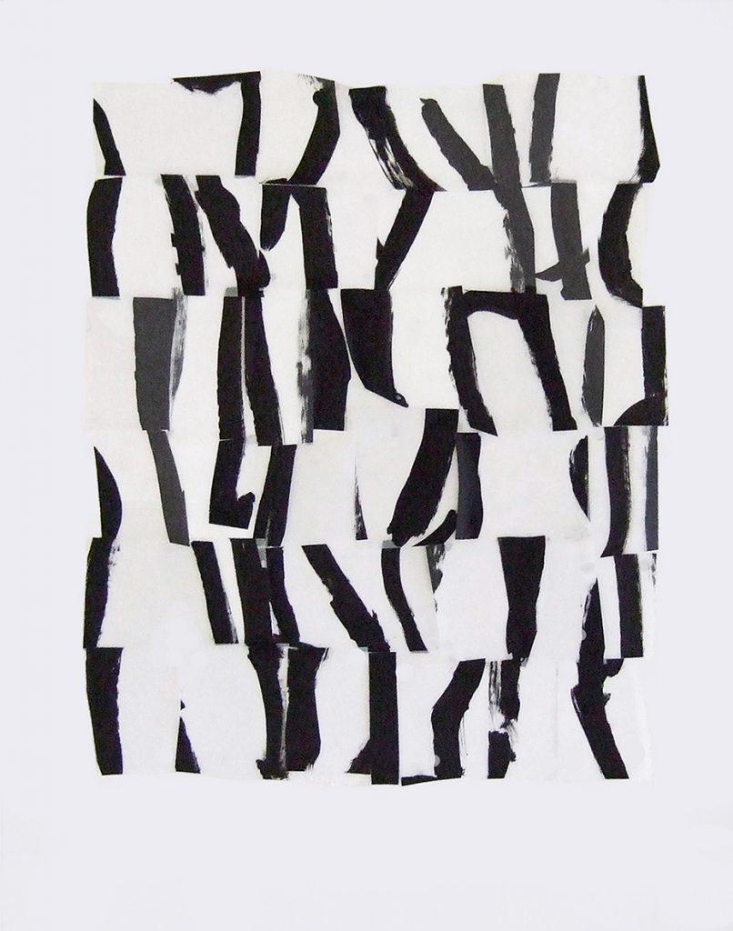 <i>Suite</i>, acrylique sur calque polyester, 61x55cm, 2013
