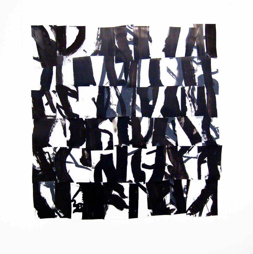 <i>Forêt</i>, acrylique sur calque polyester, 120x115cm, 2013