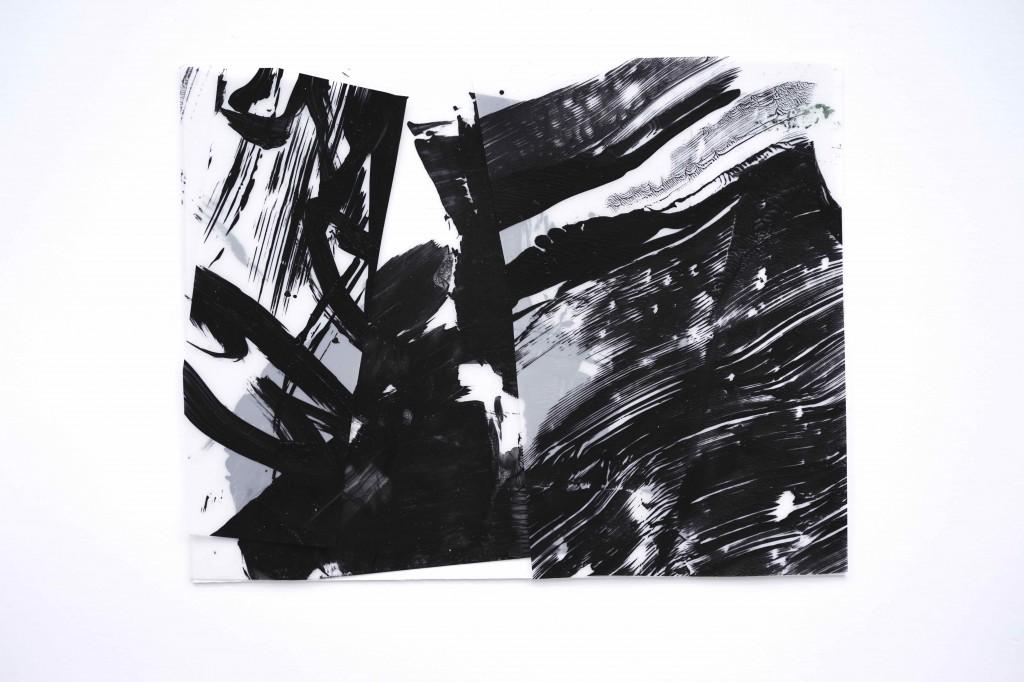 <i>Mistral</i>, acrylique sur calque poyester, bristol, 22x17cm, 2016