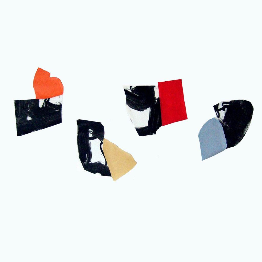 <i>Quatuor</i>, acrylique sur polyester, 81x163cm, 2012